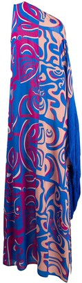 Emilio Pucci One Shoulder Printed Dress