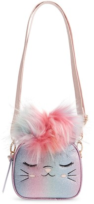 Under One Sky Mia Caticorn Faux Fur Pom Crossbody Bag