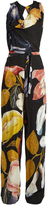 Vivienne Westwood Twisted floral-print crepe jumpsuit
