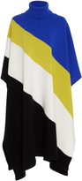 Emilio Pucci Color-Block Wool Cape