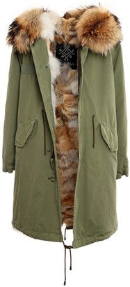 Mr & Mrs Italy Jazzy Parka With Natural Coyote Fur For Woman