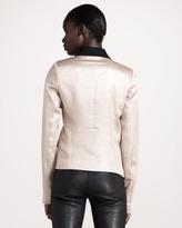 Derek Lam 10 Crosby Metallic Shawl-Collar Jacket