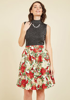 Poinsettia Well-Taken Skater Skirt in 2X