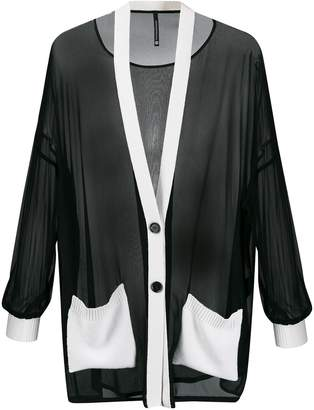 Pierantonio Gaspari Pierantoniogaspari sheer piped trim cardigan