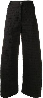 Henrik Vibskov Cropped Seersucker Trousers