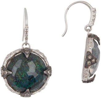 Armenta New World Sterling Silver Medium Round Crivelli Drop Earrings