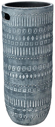 Jamie Young Zion Vase - Gray/White 29""