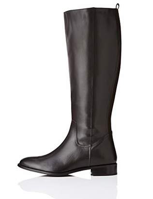 find. Flat Knee Length Leather High Boots, Brown)