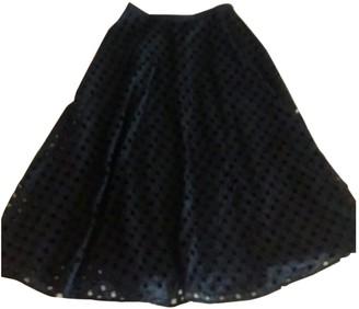 Au Jour Le Jour Blue Cotton Skirt for Women