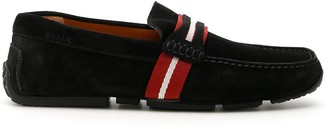 Bally Casual Striped Strap Detail Loafers