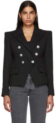 Balmain Black Six-Button Breasted Blazer