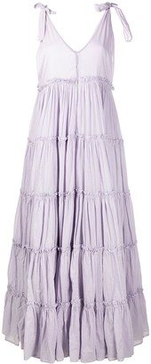 Innika Choo Tiered Flared Maxi Dress