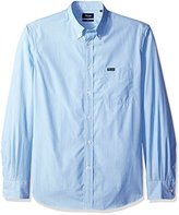 Façonnable Men's Club Fit Tiny Stripe Poplin Woven