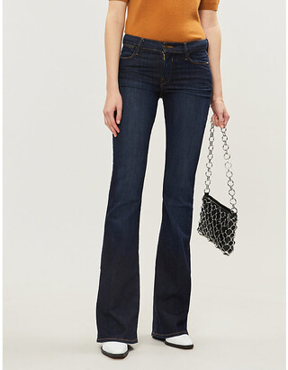 Frame Ladies Blue Cotton Le High Flare Mid-Rise Jeans, Size: 24
