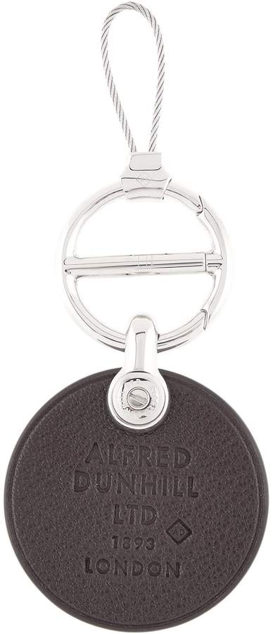 Dunhill Embossed Leather Keyring