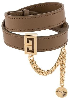 Givenchy 2G calf leather bracelet