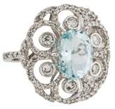 Effy Jewelry 14K Aquamarine & Diamond Cocktail Ring