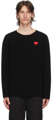 Comme des Garcons Black Heart Patch Crewneck Sweater