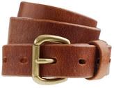 Leather denim belt