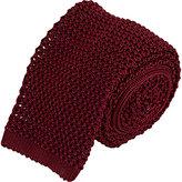 Barneys New York Men's Crochet Neck Tie-BURGUNDY