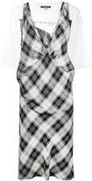 R 13 checked dress - women - Cotton/Polyurethane/Lyocell - S