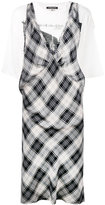 R 13 checked dress - women - Cotton/Polyurethane/Lyocell - XS