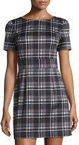French Connection Clarence Check-Print Dress, Black/White