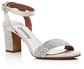 Tabitha Simmons Women's Leticia Swarovski Crystal Block-Heel Sandals