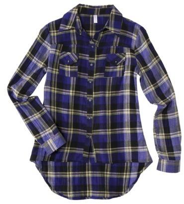 Xhilaration Junior Plaid Shirt - Assorted Colors