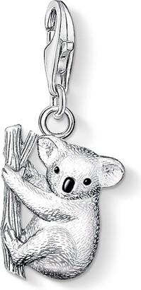 Thomas Sabo Women-Charm Pendant Koala Charm Club 925 Sterling Silver blackened black 0643-007-12