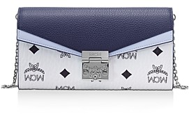 MCM Patricia Visetos Color Block Leather Crossbody Wallet