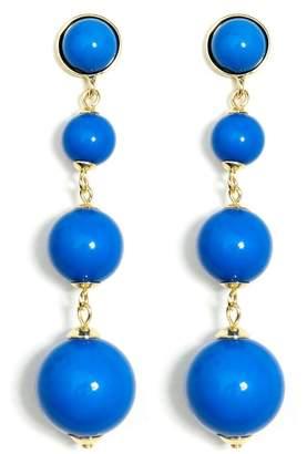 Wild Lilies Jewelry Blue Ball Earrings