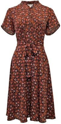 Nanette Nanette Lepore Short Sleeve Printed Shirt Dress