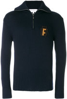 Salvatore Ferragamo F patch sweater