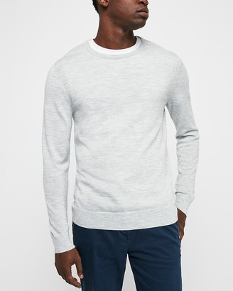 Express Merino Wool Blend Thermal-Regulating Crew Neck Sweater