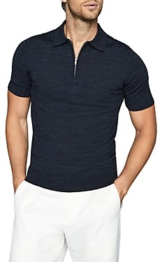 Reiss Maxwell Merino Wool Zip Polo