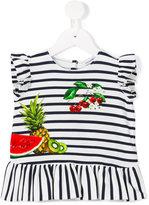 Dolce & Gabbana striped T-shirt - kids - Cotton/Spandex/Elastane - 3-6 mth
