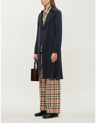 Theory Belted crepe trench coat