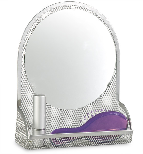 Container Store Mesh Magnetic Vanity Bin Silver