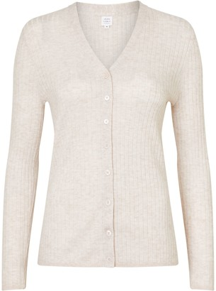John Lewis & Partners Rib Stitch V-Neck Cardigan