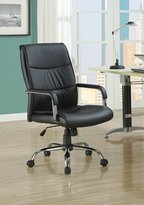 Monarch Specialties 4290 Office Chair in Black Leather
