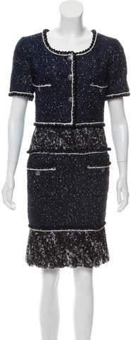 Chanel Tweed Inset Dress