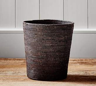 Pottery Barn Tava Wastebasket - Espresso