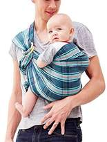 Mamaway Baby Ring Sling | Carrier | Birth to 3 Yr Breastfeeding | Can hold baby in different positions | Tested to Hold 50kg for 24 Hrs | One Size Fits All | Checked Navy