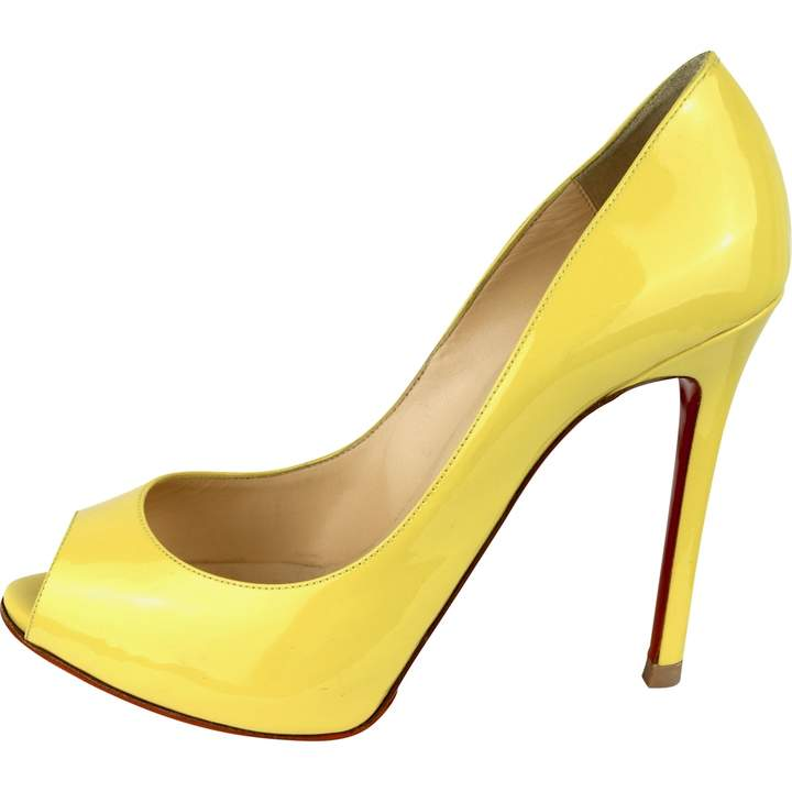 premium selection 935de f2dde Very Prive Yellow Patent leather Heels