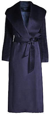 Sentaler Women's Alpaca Shawl Collar Wrap Coat