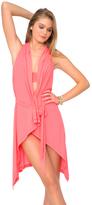 Luli Fama Cosita Buena Cover Ups Beach Wrap Vest In Fire Coral (L177846)