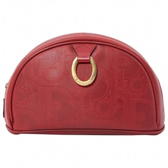 Christian Dior Red Synthetic Purses, wallets & cases