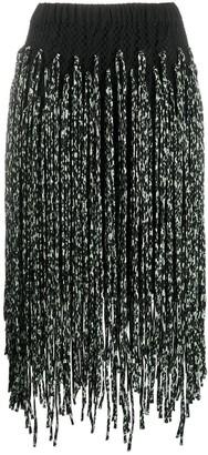 Christian Wijnants Fringed Knitted Skirt