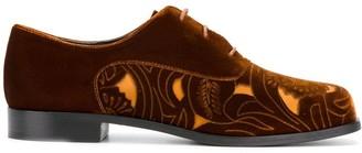 Emporio Armani Cut-Out Panel Lace-Up Shoes